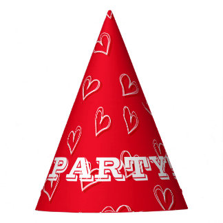 Little hearts party hat