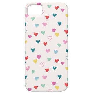 Little Hearts Phone Case - Teal Multi