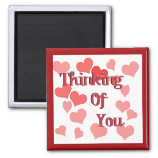 Little Hearts Thinking of You Square Magnet