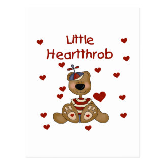 Little Heartthrob Boy Bear Postcard