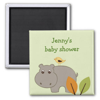 Little Hippo Party Favor Personalized Magnets