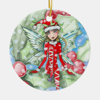 Little Holly Fairy Ornament