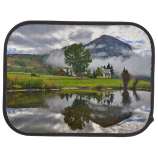 Little House in Mist on Lake Car Mat