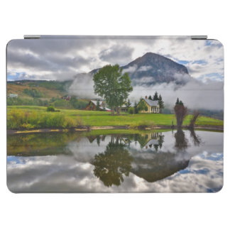 Little House in Mist on Lake iPad Air Cover