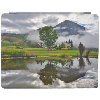 Little House in Mist on Lake iPad Cover
