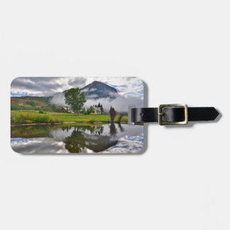 Little House in Mist on Lake Luggage Tag