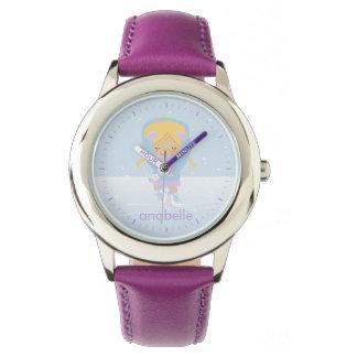 Little Ice Skater {purple} Wristwatch