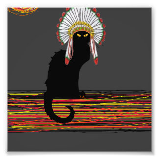 little Indian chief kitty cat Photo Print