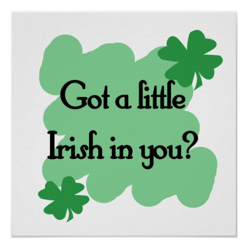 little irish poster