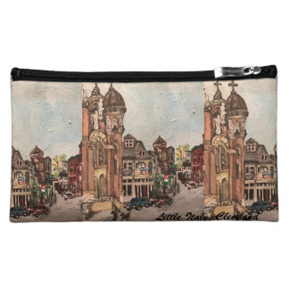 Little Italy, Cleveland Painting Cosmetic Bag