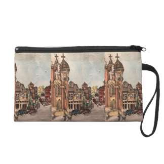 Little Italy, Cleveland Painting Wristlet