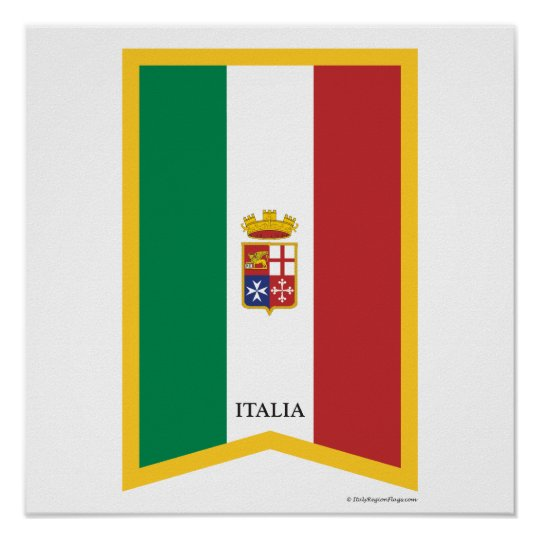 Little Italy New York City Italian Flag Poster