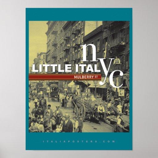 Little Italy New York City Poster