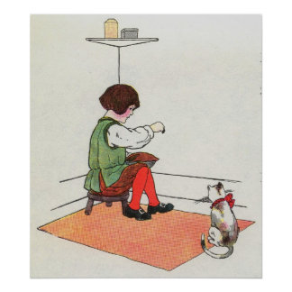 Little Jack Horner  Sat in the corner Poster