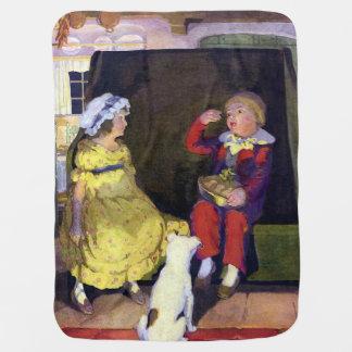 Little Jack Horner Vintage Nursery Rhyme Receiving Blankets