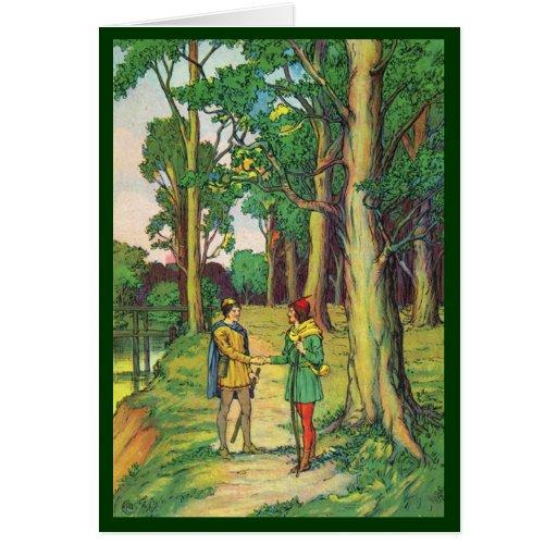 Little John Meets Robin Hood Card