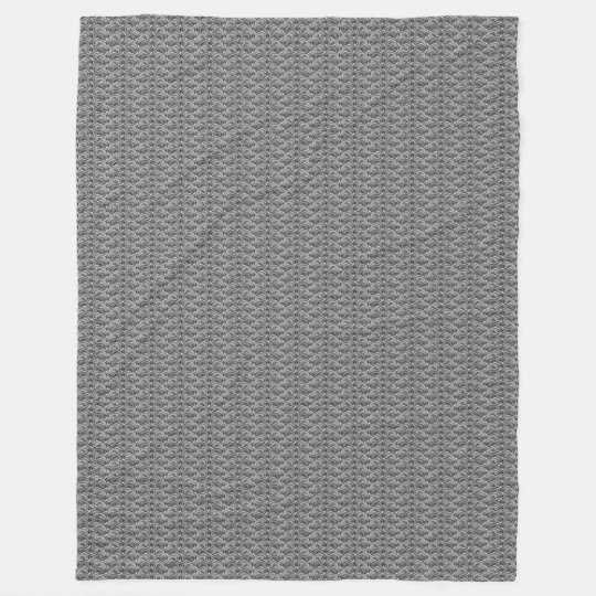Little Jumping Fish Grey Fleece Blanket