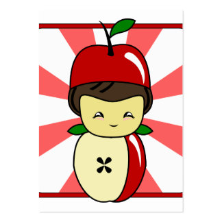 Little Kawaii Apple Boy With Seeds Pack Of Chubby Business Cards