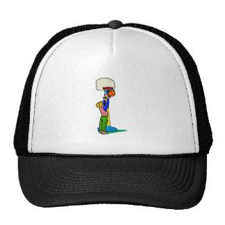 Little kid big basket mesh hat