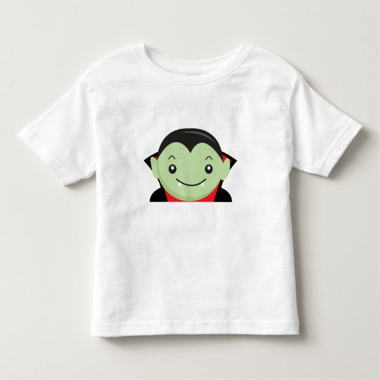 Little Kid Vampire Halloween Cartoon Character Toddler T-Shirt