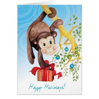 Little Kima Monkey Card