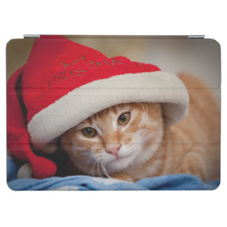 Little Kitten in Red Christmas Hat iPad Air Cover