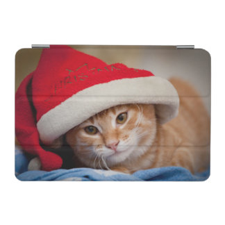 Little Kitten in Red Christmas Hat iPad Mini Cover