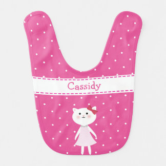 Little Kitty Cat baby girl's Bib