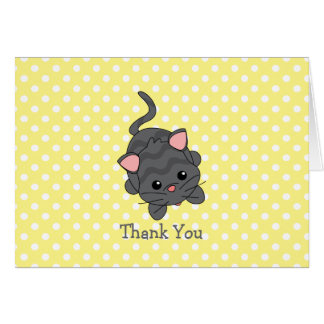 Little Kitty Thank You Greeting Cards