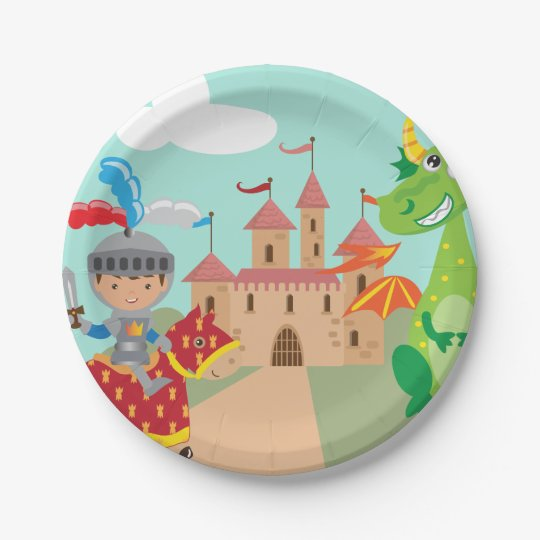Little Knight Castle and Dragon 7 Inch Paper
