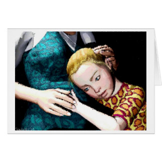 Little Lady in Waiting Greeting Card