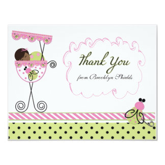 Little Lady Ladybug Theme Thank You Card 11 Cm X 14 Cm Invitation Card