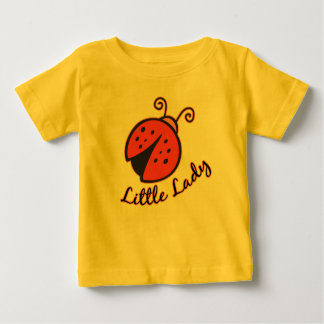 Little Lady (Ladybug White) Tshirt