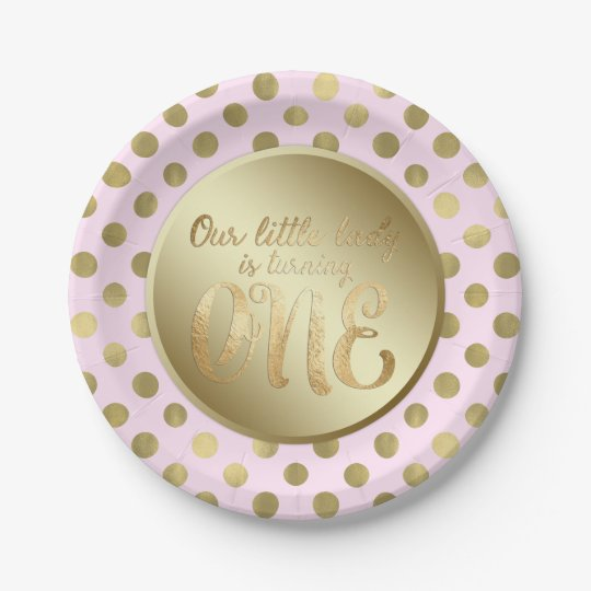 Little Lady Pink Gold 1st Birthday Party 7