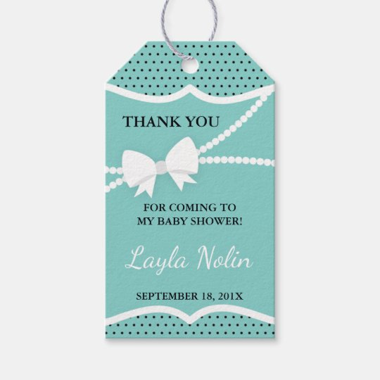 Little Lady Thank You Tag, Favour Gift Tags