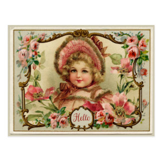Little Lady Vintage Reproduction Postcard