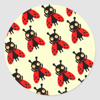 Little ladybug baby first birthday party classic round sticker
