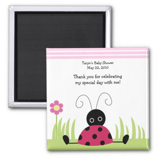 Little Ladybug Baby Shower / Birthday Favour Magnet