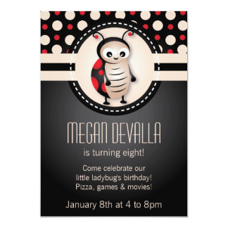 Little Ladybug Birthday Party Invitation