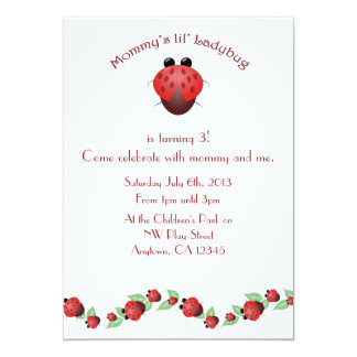 Little Ladybug Birthday Party 13 Cm X 18 Cm Invitation Card