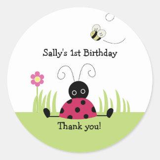 Little Ladybug Favor Sticker Baby Shower Birthday