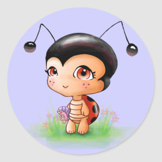 Little Ladybug Girl Sticker