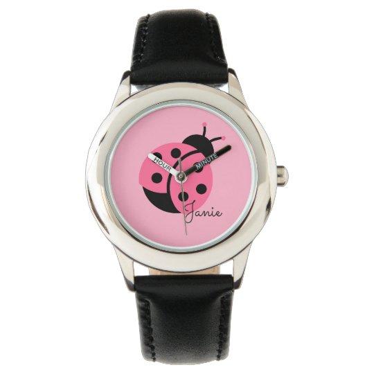 """""""Little Ladybug"""" Personalised girl's watch"""