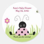 Little Ladybug (Pink) Baby Shower Favour Sticker