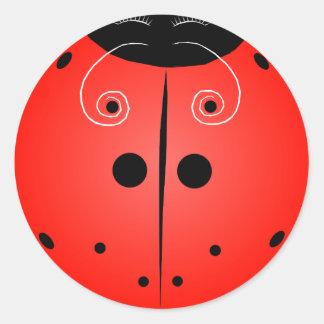 Little Ladybug! Round Sticker
