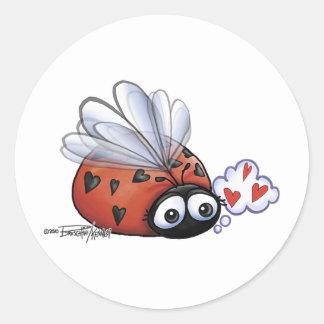 Little Ladybug Round Sticker