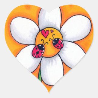 Little Ladybugs Heart Sticker