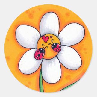 Little Ladybugs Round Sticker