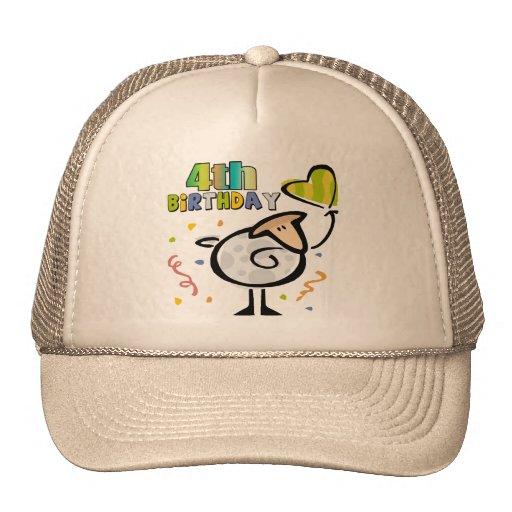 Little Lamb 4th Birthday Gifts Hats