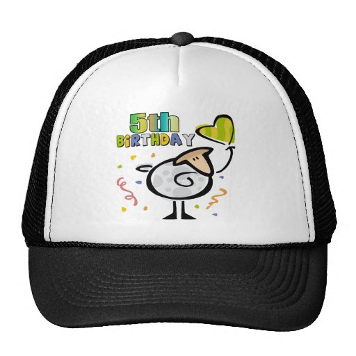 Little Lamb 5th Birthday Gifts Trucker Hats